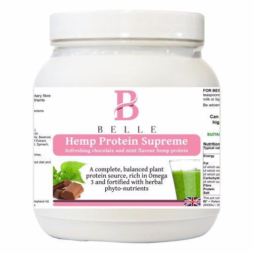 Belle® Hemp Protein Supreme Powder - Refreshing Chocolate and mint flavour