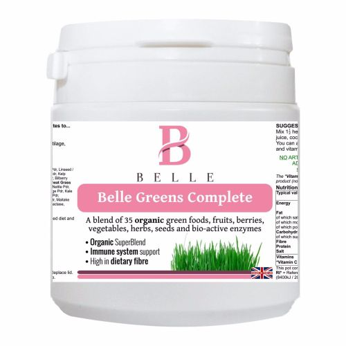 Belle® Greens Complete Powder- support  energy levels, cleansing, detoxific