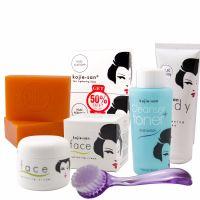 Kojie San Total Skin Lightening Set - Soap,Toner, Lotion, Cream & Brush!