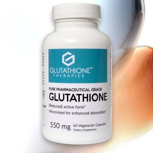 Glutathione Therapies – Pure 550 Mg. Pharmaceutical Grade Glutathione Suppl