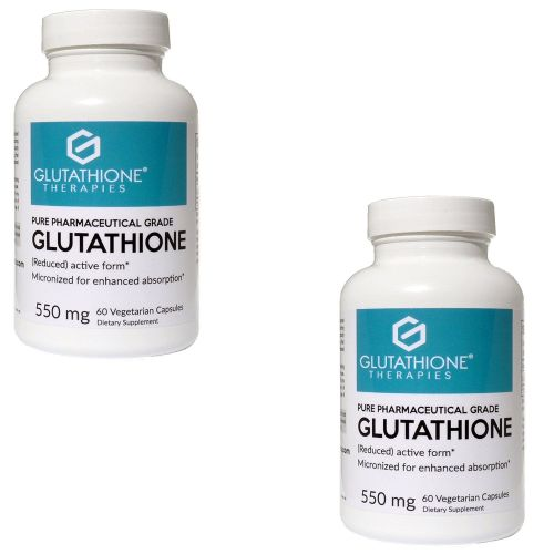 (Pack of 2) Glutathione Therapies – Pure 550 Mg. Pharmaceutical Grade Gluta