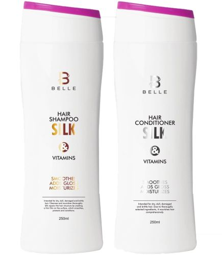 Belle® Silk and Vitamins Hair Shampoo and Conditioner Set 250 ml