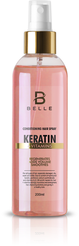 Belle® Keratin Vitamins Conditioning Hair Spray 200 ml