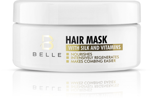 Belle® Hair Mask with Silk and Vitamins - paraben free - 300 ml