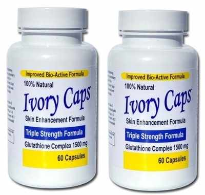 <!-- 002 -->Ivory Caps Skin Lightening Whitening Support Pill (Pack of 2 Sa