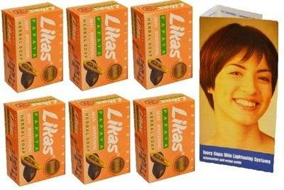 <!-- 013 -->6x Original Likas Papaya Skin Whitening Herbal Soap