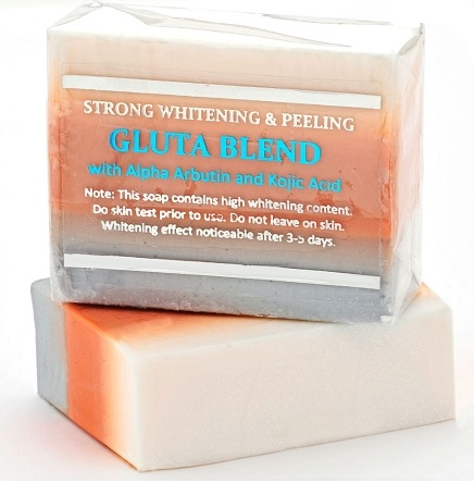 Premium Maximum Whitening/Peeling Soap w/ Glutathione, Arbutin, and Kojic a