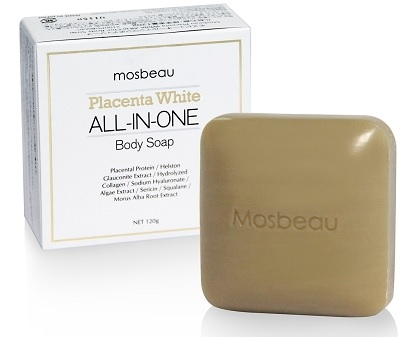 Authentic Mosbeau Placenta White All-In-One Body Whitening Soap