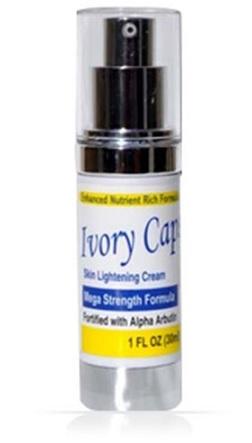 Ivory Caps Skin Lightening Support Cream Mega Strength Formula w/ Alpha Arb
