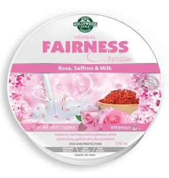 Hollywood Style Herbal Fairness Cream - UVA/UVB Sun Protection