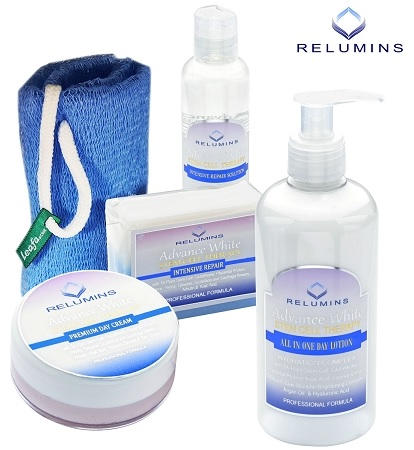 Authentic Relumins Advance White Face & Body Set - TA Stem Cell Premium Day