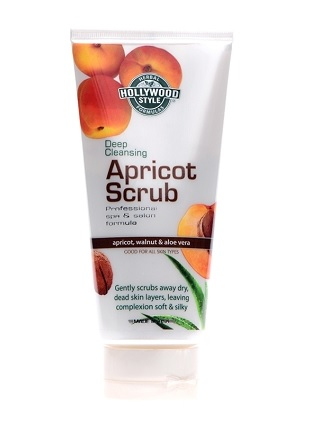 Hollywood Style Deep Cleansing Apricot Scrub - Professional Formula, Soothe