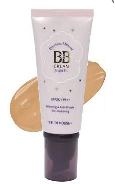 Original Etude House Precious Mineral BB Cream - Bright Fit SPF30 PA++ - W1