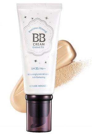 Original Etude House Precious Mineral BB Cream Cotton Fit SPF30 PA++ NO2 Li