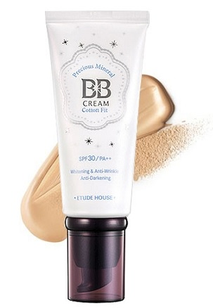Original Etude House Precious Mineral BB Cream Cotton Fit SPF30 PA++ W13 Na