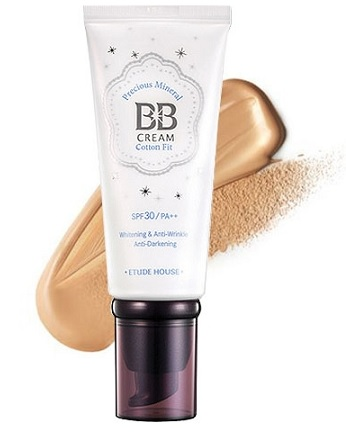 Original Etude House Precious Mineral BB Cream Cotton Fit SPF30 PA++ W24 Ho