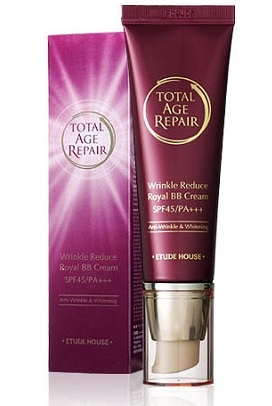 Original Etude House Total Age Repair Wrinkle Reduce Royal BB Cream (SPF45/