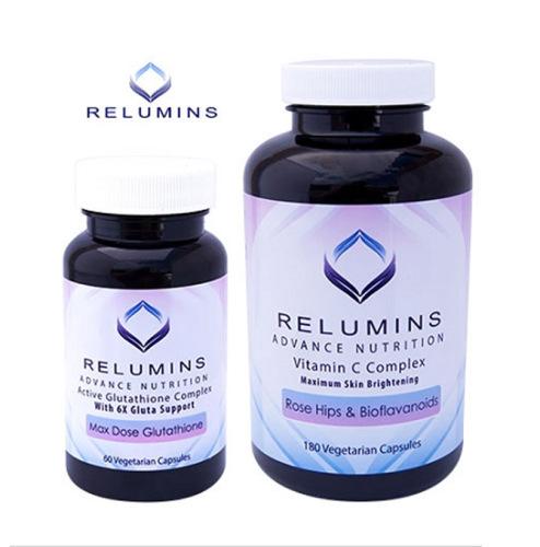 Relumins Advance Nutrition Active 6X Glutathione Complex & Vitamin C MAX C