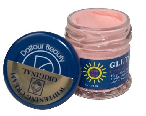 Authentic Dalfour Beauty Glutathione Whitening Sunblock Cream SPF50+