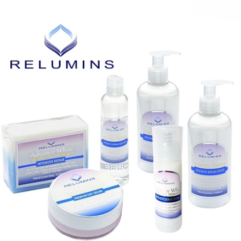 AUTHENTIC RELUMINS TA STEM CELL THERAPY ADVANCE TOTAL WHITENING SET W/ NO W