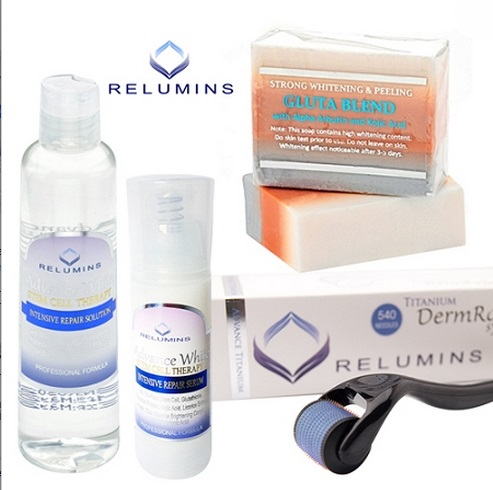 PROFESSIONAL ACNE SCAR TREATMENT SET WITH RELUMINS ADVANCE TITANIUM 540 ROL