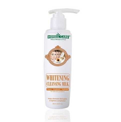 HOLLYWOOD STYLE WHITENING CLEANSING MILK - HERBAL CARE FOR DARK SKIN PROBL