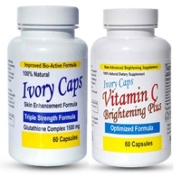 Ivory Caps Skin Enhancement Glutathione & Vitamin C Set
