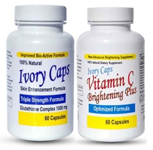 Ivory Caps Skin Enhancement Glutathione & Vitamin C Set