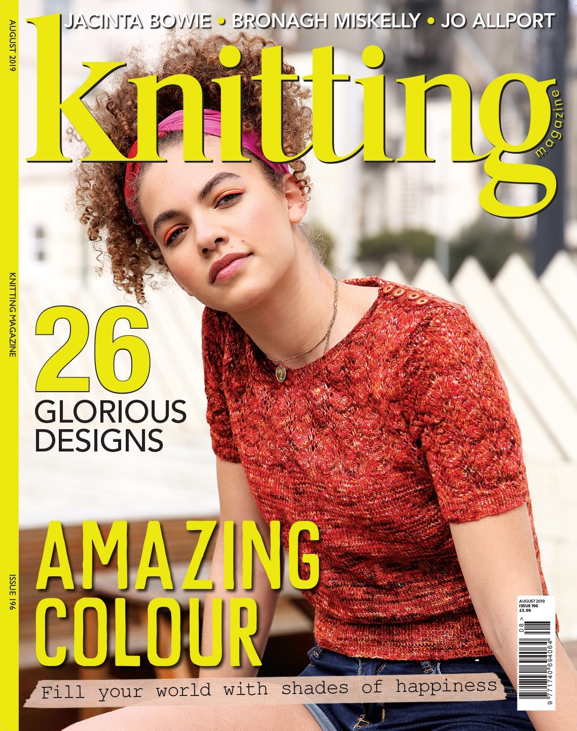 Cover image of Knitting Magazine issue 196