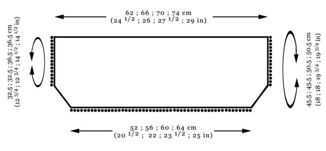Bobble edge shrug schematic