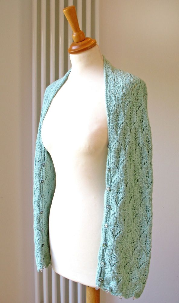Oriel Beaded Shrug PDF Pattern