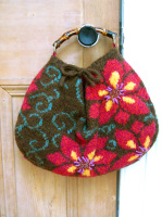 Felted Floral Bag PDF Pattern