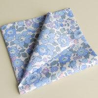 Blue floral pocket square - Liberty tana lawn Betsy