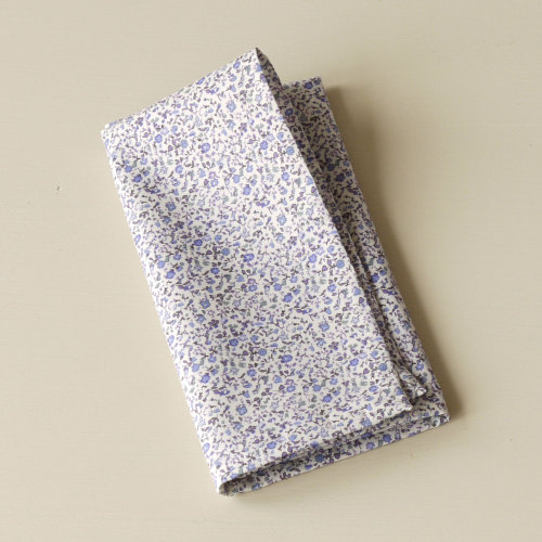 Blue Floral Men's Pocket Square - Liberty tana lawn Newland