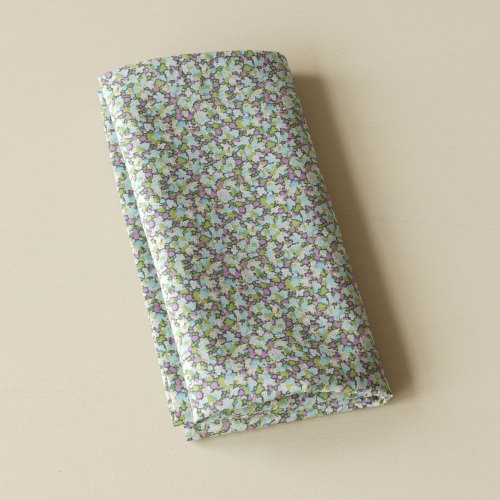 Liberty tana lawn pocket square Pepper green