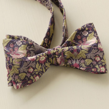 Strawberry Thief brown Liberty print bow tie