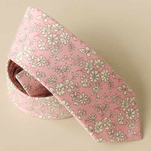 Pink Liberty print Capel hand-stitched gentleman's tie