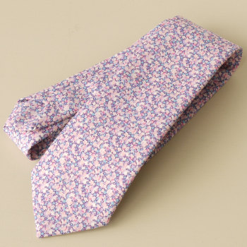 Men's handmade Liberty tana lawn tie - Pepper lilac