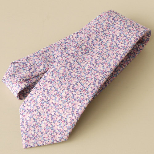 Men's handmade Liberty tana lawn tie - Pepper lilac