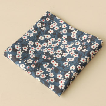 Gentleman's pocket square - Liberty Mitsi blue