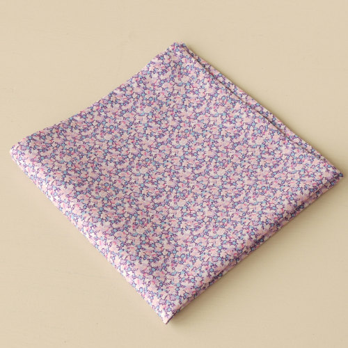 Gentleman's lilac pocket square - Liberty tana lawn Pepper