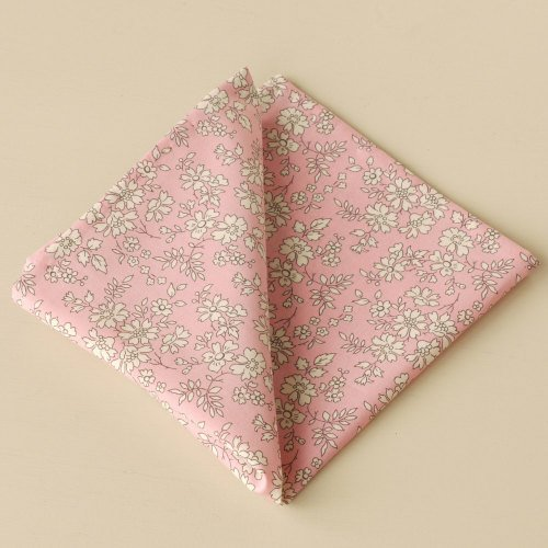 Gentleman's pink pocket square - Liberty tana lawn Capel