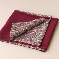 Liberty Strawberry Thief and Claret Velveteen Scarf