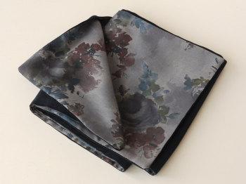 Black velveteen and Liberty print Denise Eva scarf