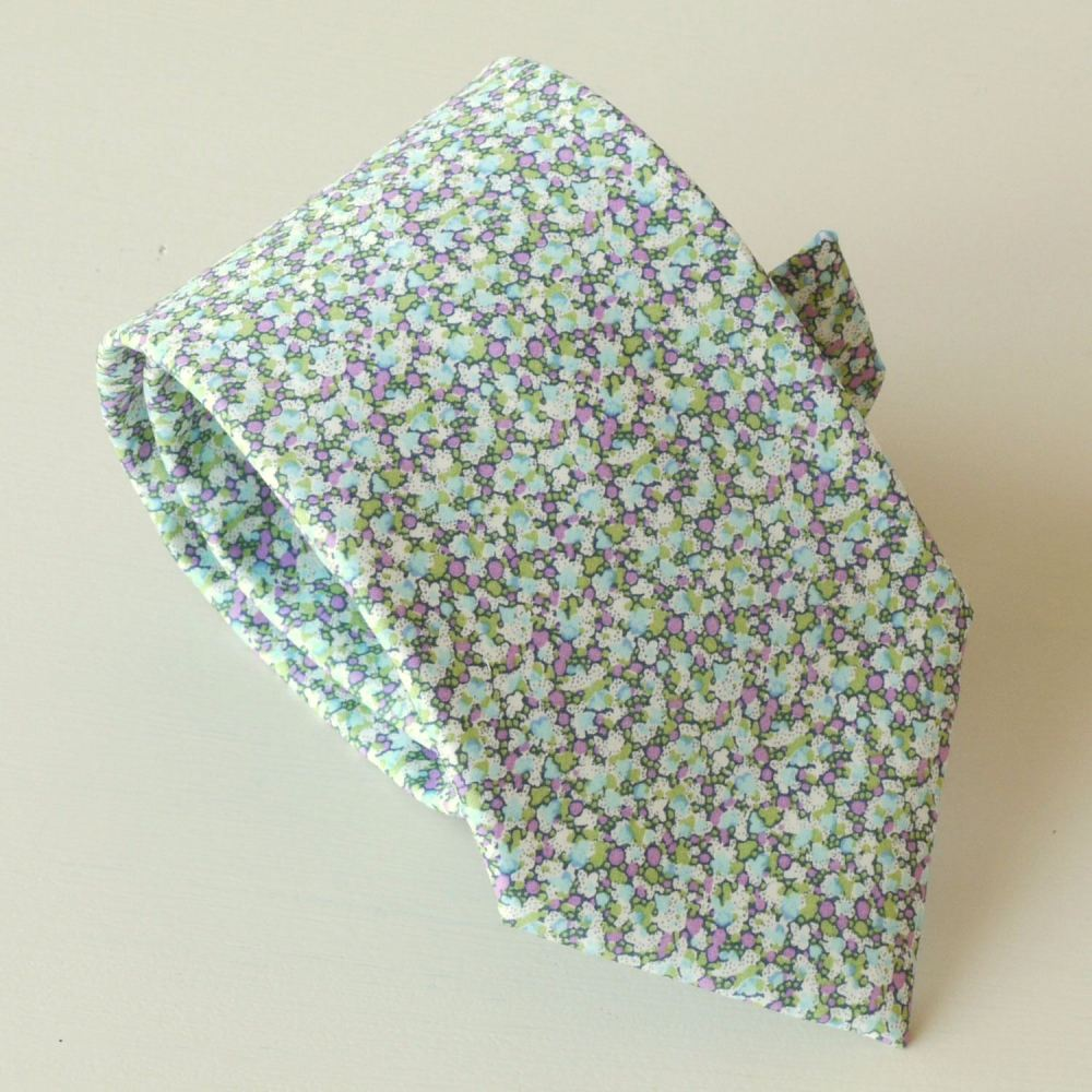 Men's handmade Liberty tana lawn tie - Pepper green