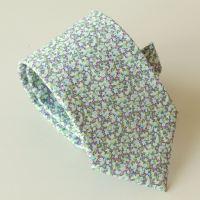 Men's handmade Liberty tana lawn tie - Pepper green