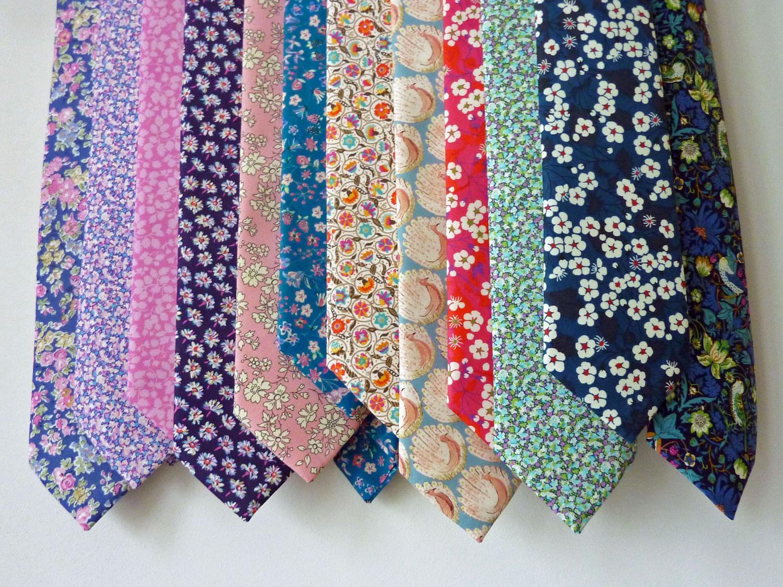 Hand-stitched Liberty tana lawn ties