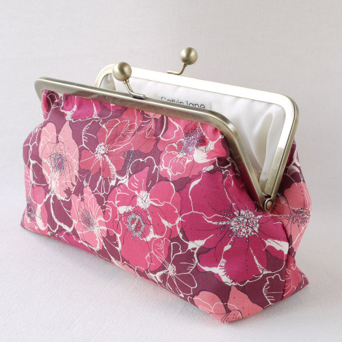Liberty print snap clutch bag - Poppy and Rose