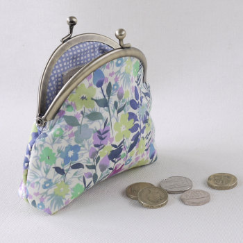 Floral Liberty print coin purse