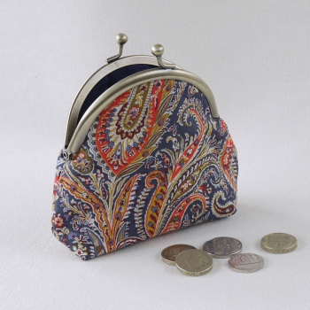 Paisley Liberty print coin purse